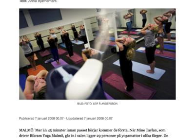 Artikel Sydsvenskan 1 - Hot Yoga Malmo
